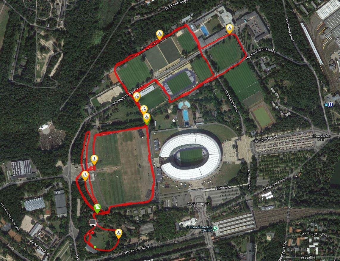 8 km-Runde; Quelle: runtastic