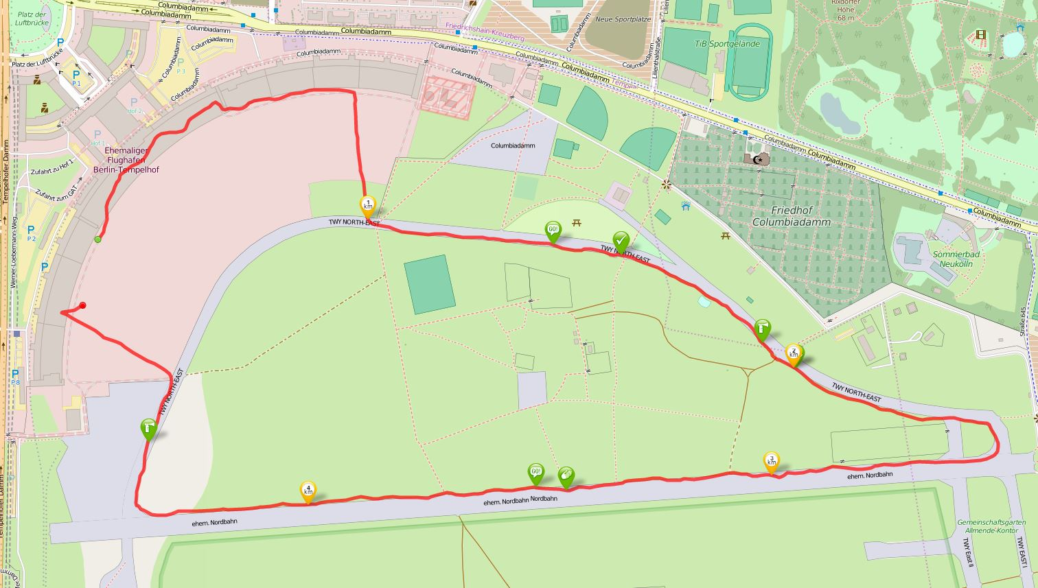 Berliner Marathonstaffel Airfield Run 5k OSM