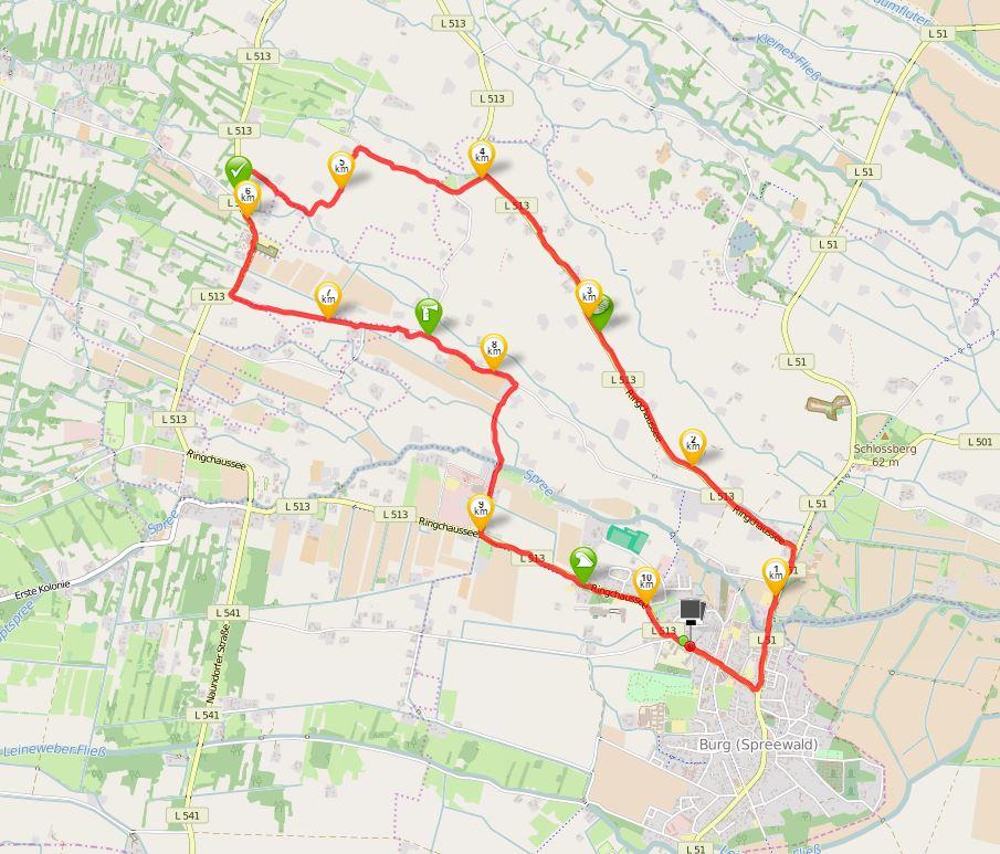 spreewaldmarathon 10k OSM