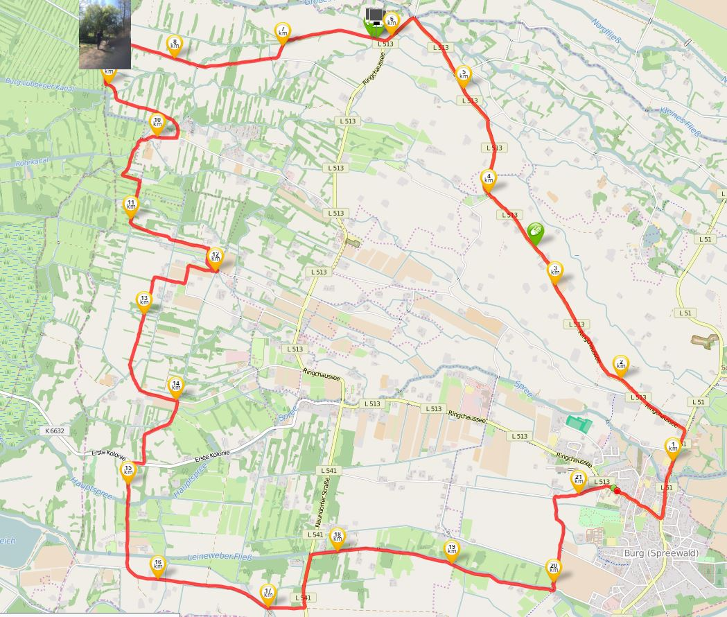 Halbmarathon, Quelle: runtastic, Open Street Map