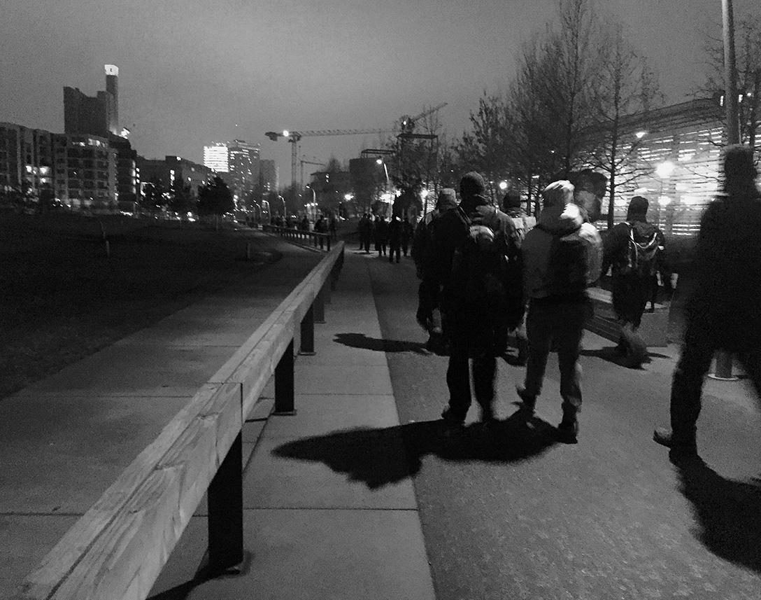 Berliner Polarnacht View Potsdamer Platz