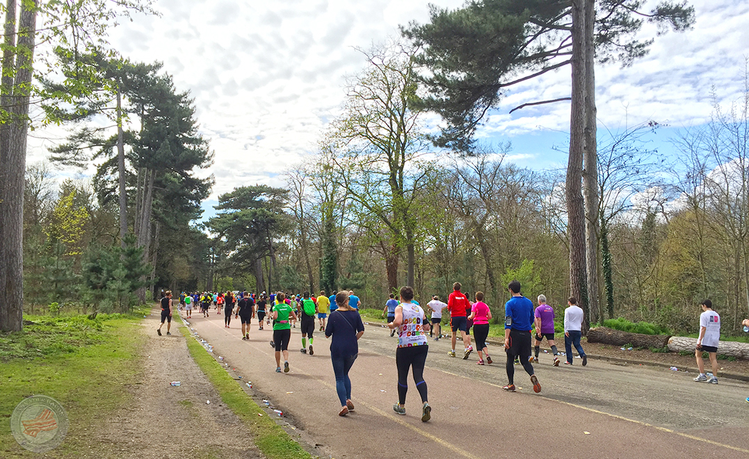 Paris Marathon 2016 Bois du Boulogne