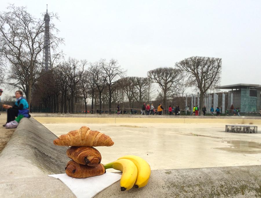 Paris Marathon 2016 Breakfast Run Croissant