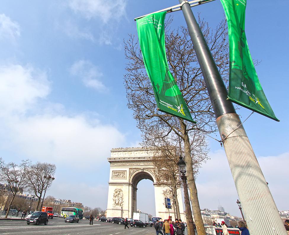 Paris Marathon 2016 Flags