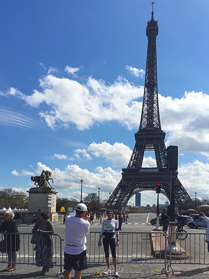 Paris Marathon 2016 Tour Eiffel