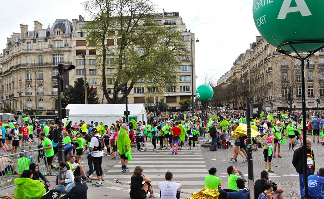 Paris Marathon 2016 Ziel
