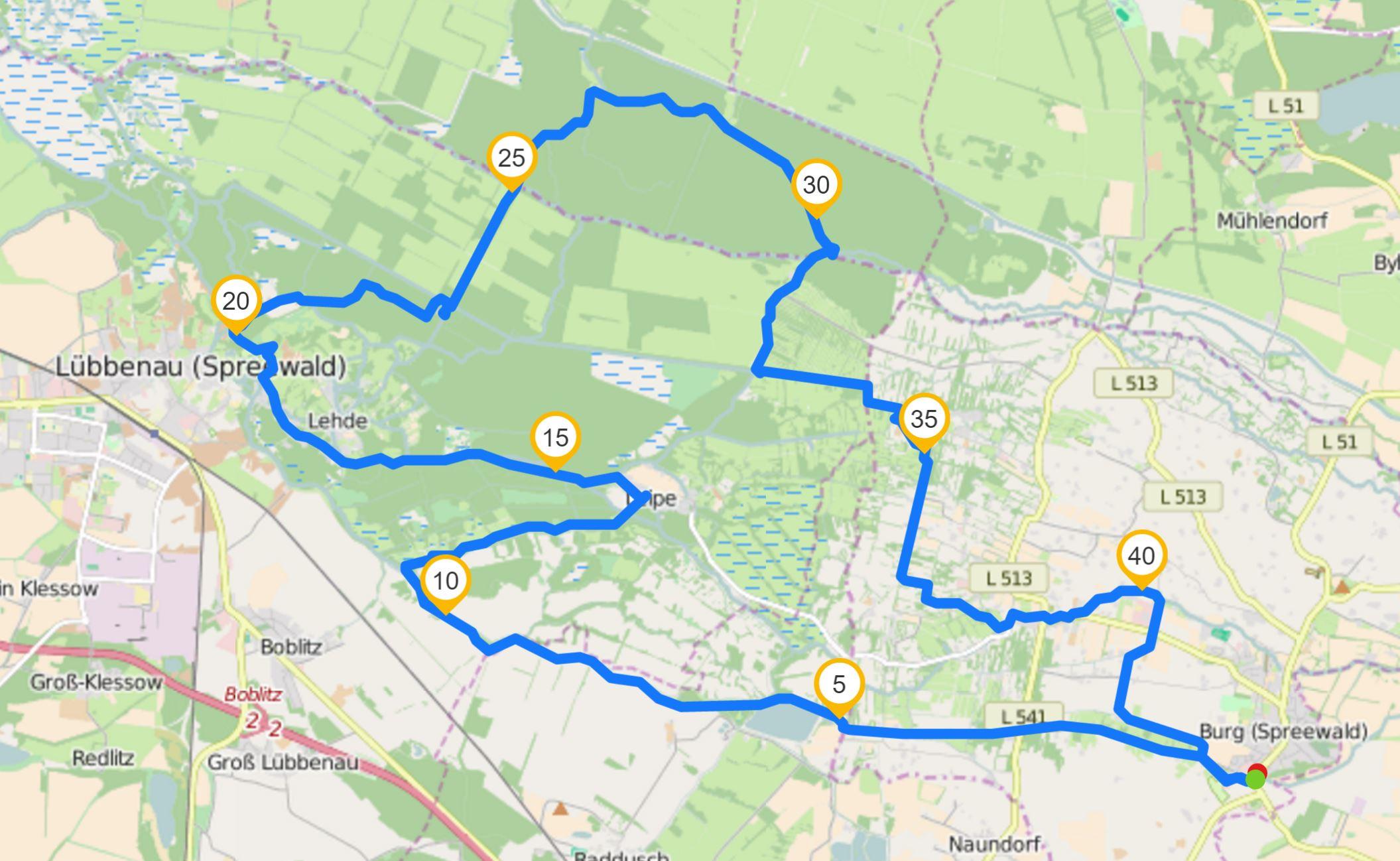 Spreewaldmarathon Paddeln 42 km