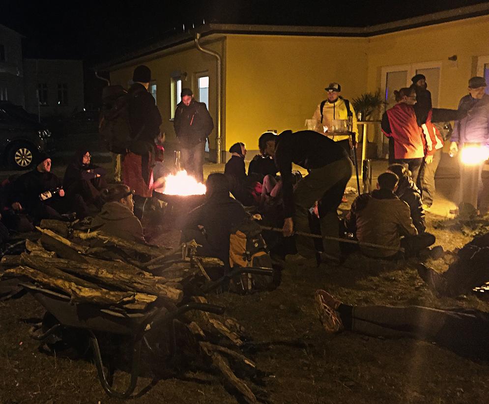 Mammutmarsch 2016 Bruchmühle 44 km Feuerstelle