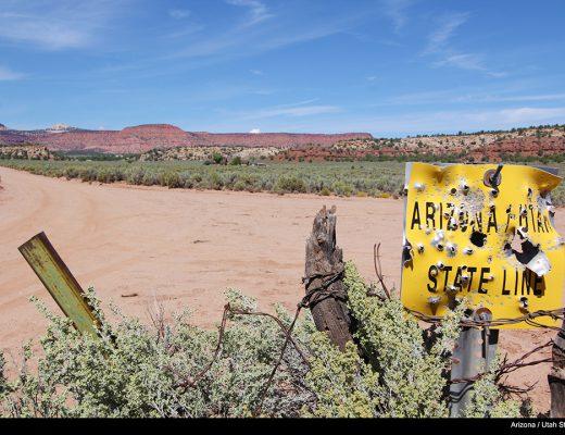 Arizona Utah State Line