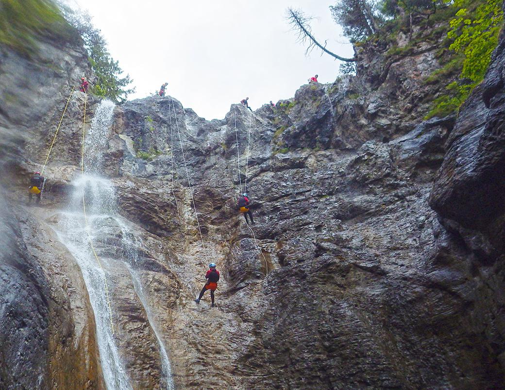 Canyoning Stuibenfälle Ablassen
