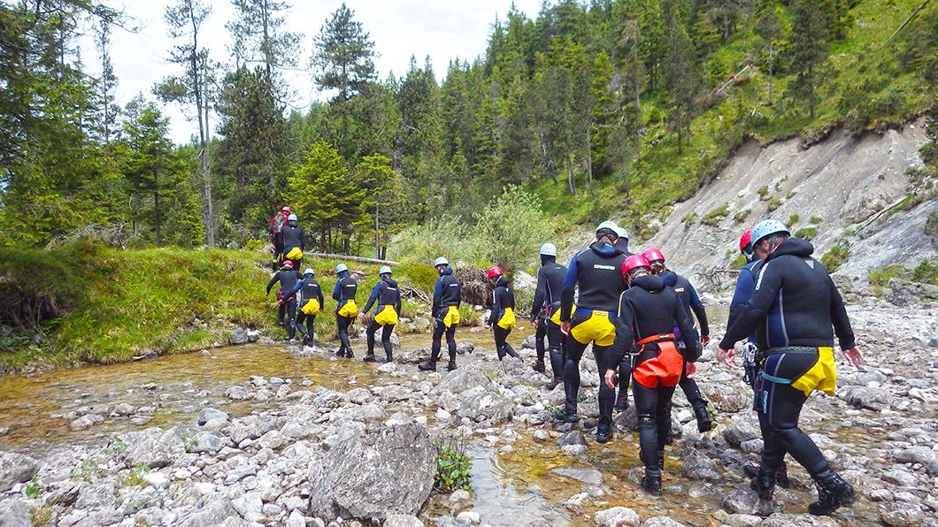 Canyoning Stuibenfälle Wandern