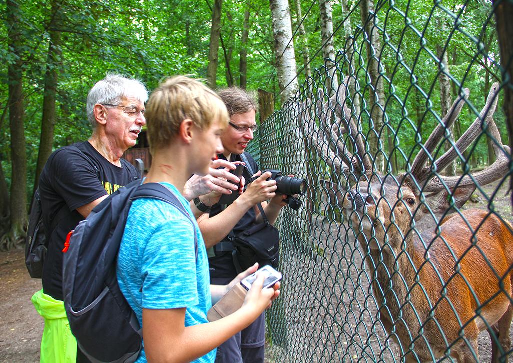 EYB-Wanderung Begeisterung am Tiergehege
