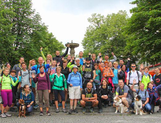 EYB-Wanderung Startgruppe
