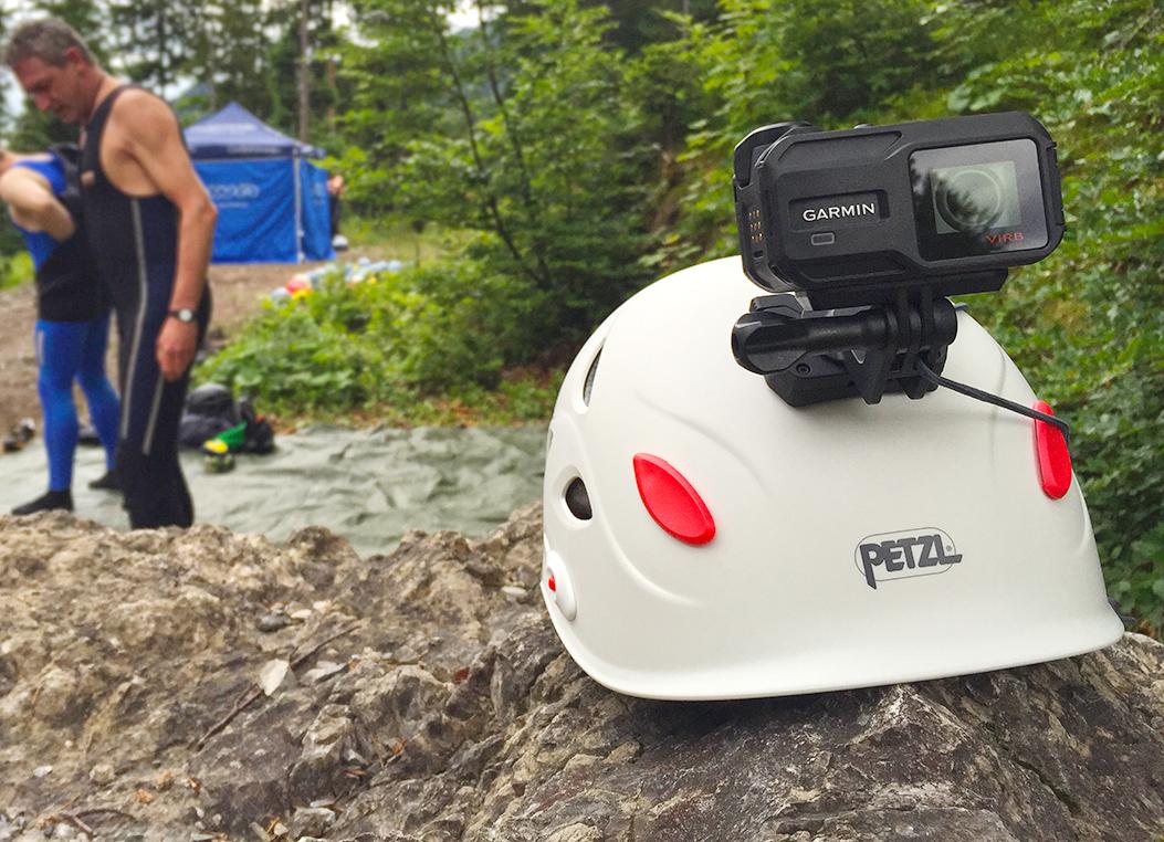 kamera und Helm