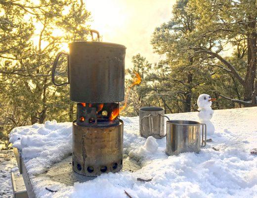 Mahogany Flat Snowman Solo Stove